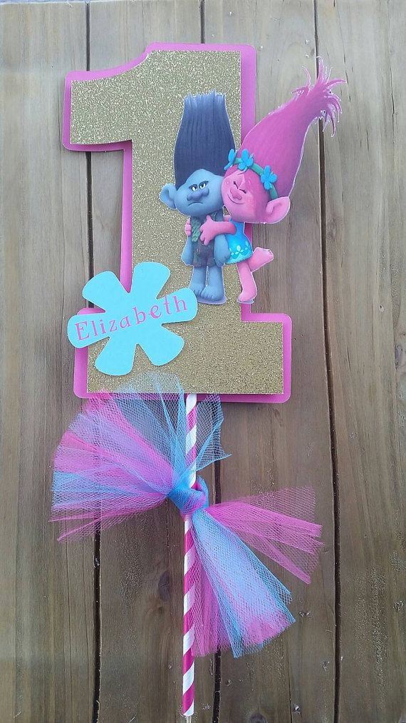 Two options on size 5.5 inches or 8.5 inches tall attached to 8 inch stripe stick. Please leave me a note with childs birthday party date and childs name if you want to personalize it. Thank you.