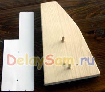 Простая самодельная подставка для кухонных ножей.  Как сделать подставку для ножей на кухню.