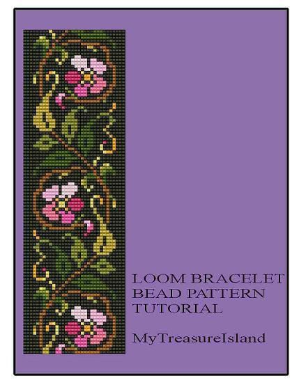 Bead Loom Floral Vintage Border Motif by MyTreasureIsland on Etsy, $6.50