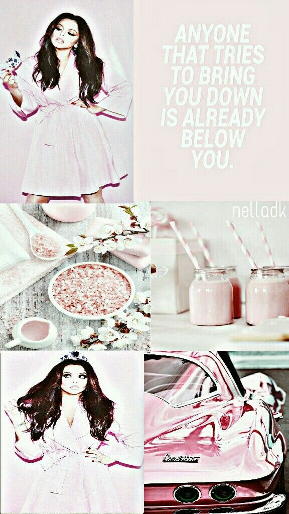 ¤Anyone that tries to bring you down is already below you.¤  Jesy Nelson lockscreen.
