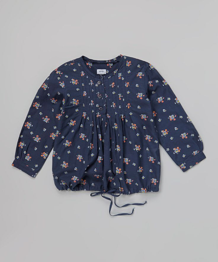 Another great find on #zulily! Blue Floral Tie Top - Toddler & Girls by Aioty #zulilyfinds