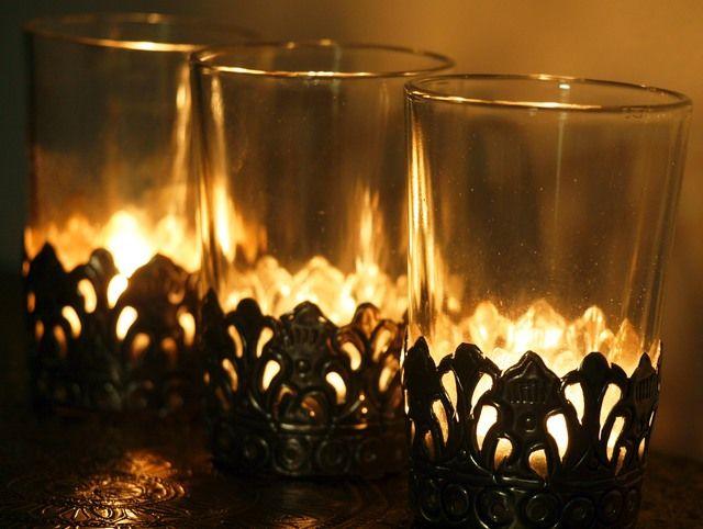 Tea Glass with Metal