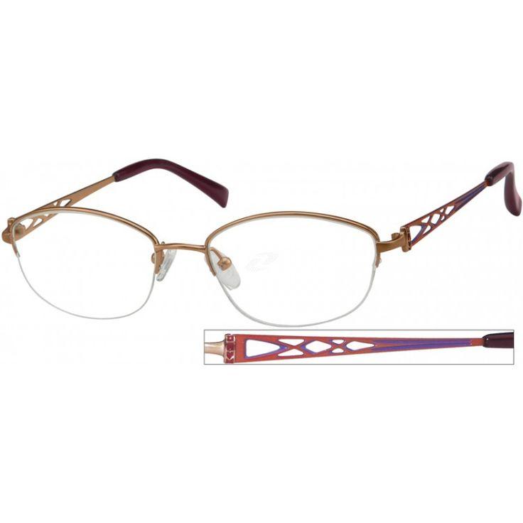 An elegant, medium oval half-rim, pure titanium frame....Price - $39.95