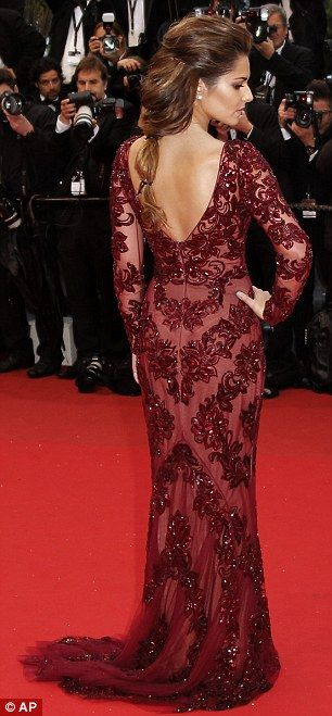 Flawless: Cheryl wore simple jewellery so not to distract from the intricate gown