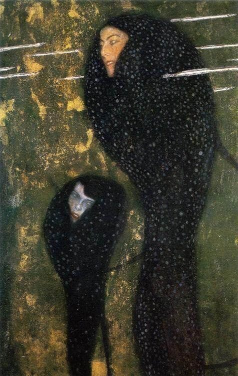 グスタフ・クリムト「水の精・銀の魚」(1899) Gstav Klimt - Nymphen (Silver Fisch) #ウィーン分離派