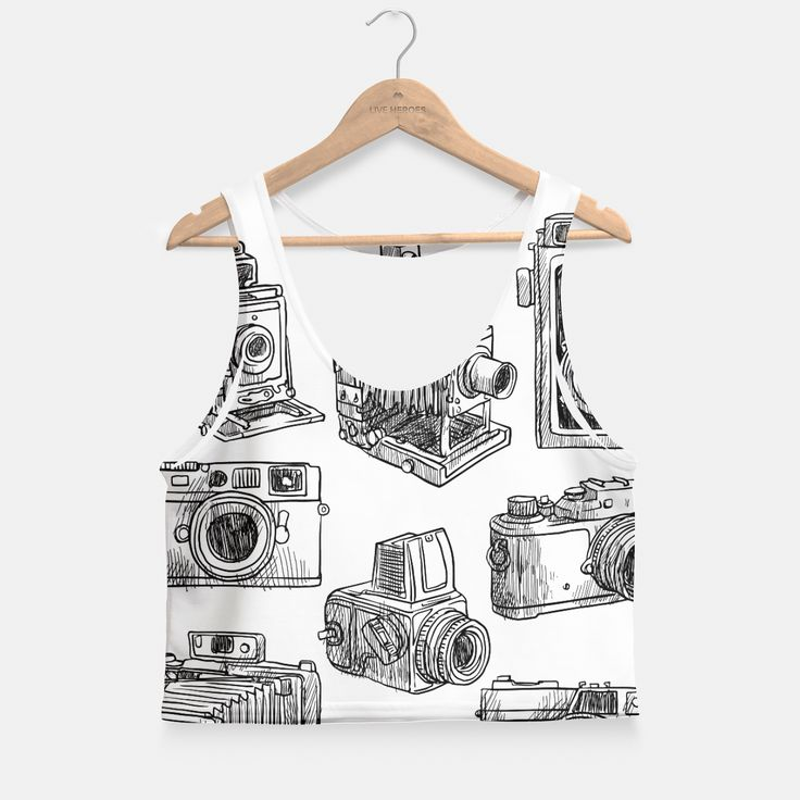 Old cameras Crop Top by Vitor7costa 29.95€