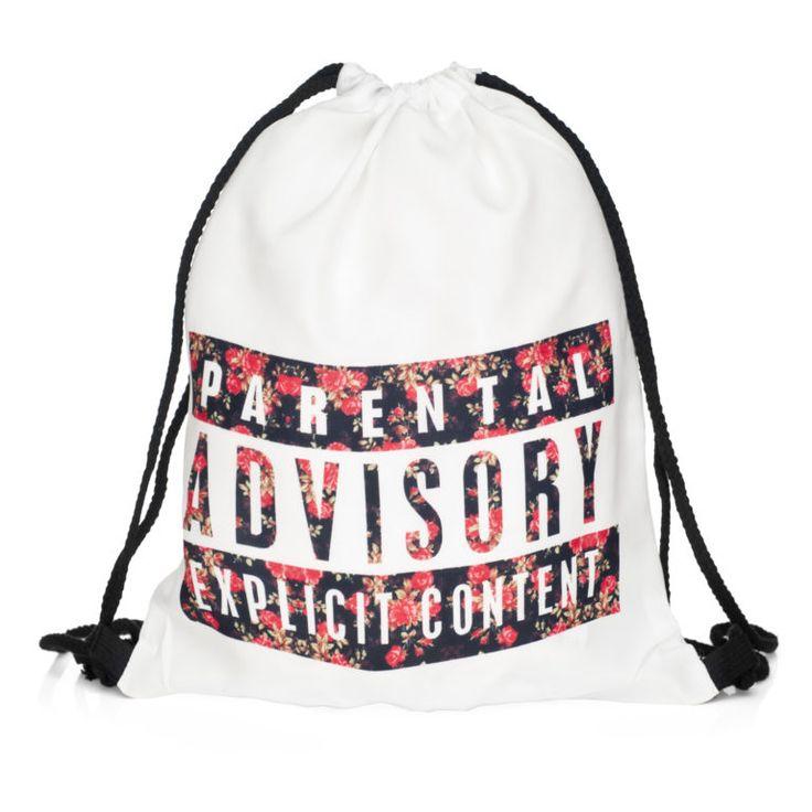 Parental Advisory Draw String Bag £8 // Free UK Delivery…
