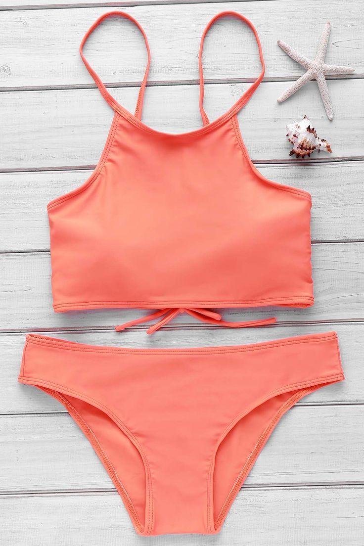 Orange Cami Bikini Set