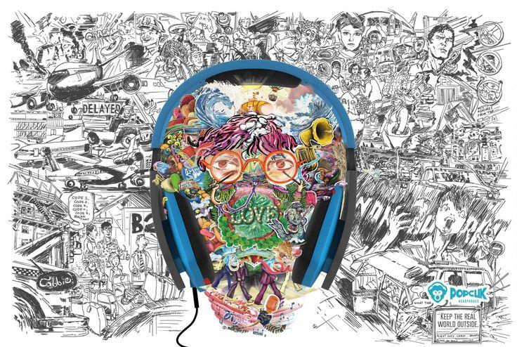 PopClik Headphones: Beatles