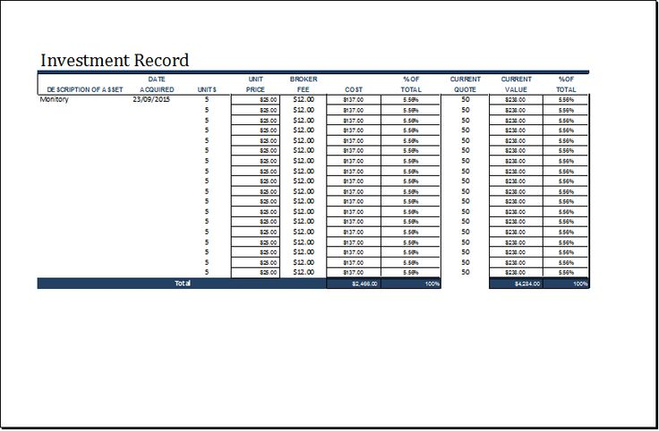 Investment record template at word-documents Microsoft - transcript request form