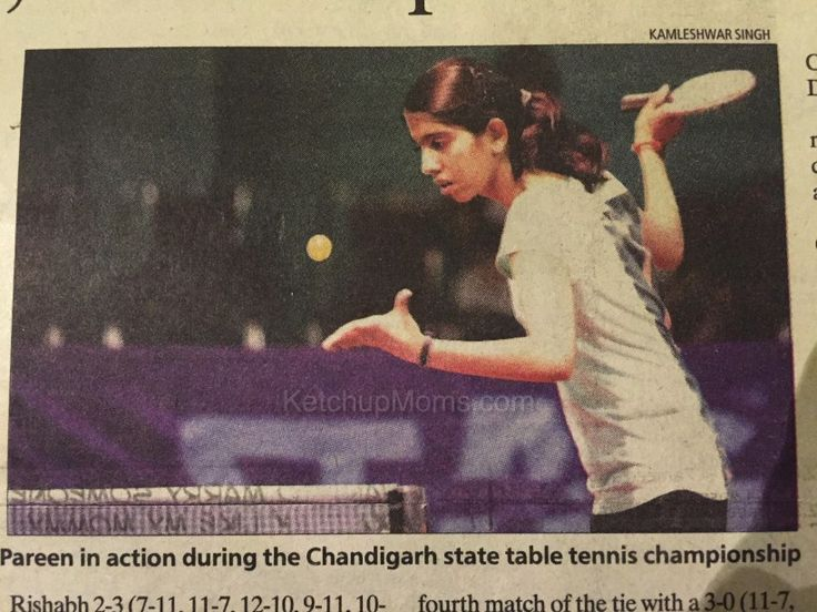 KetchupMoms, Physical Literacy, Table Tennis, Pareen Verma, chandigarh champion, indian Sportswoman