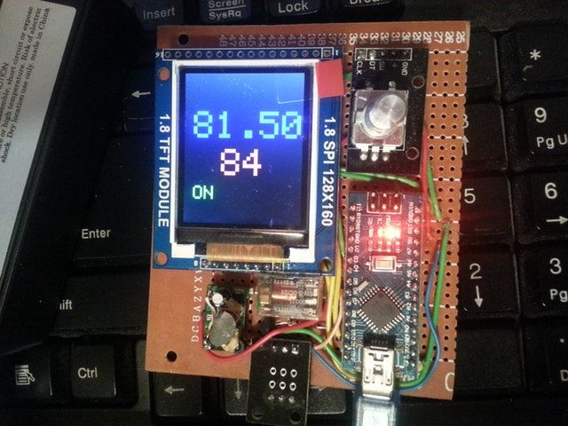 arduino - My first real project, a thermostat!
