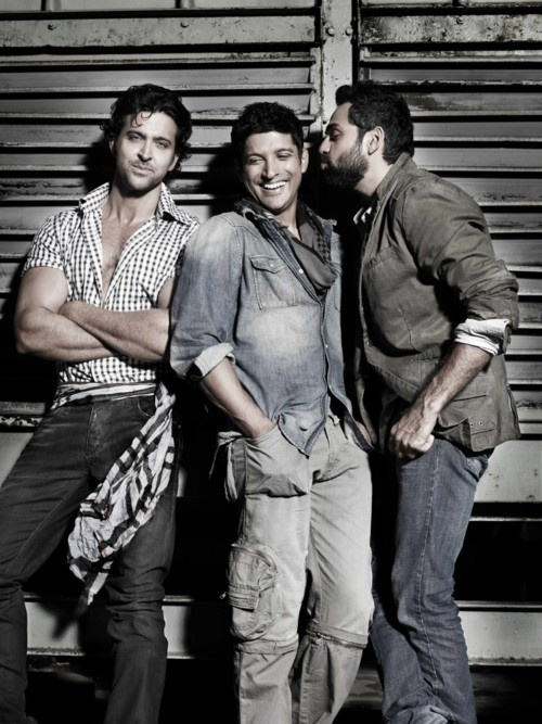 The boys from Zindagi Na Milegi Dobara: Hrithik Roshan, Farhan Akhtar, Abhay Deol