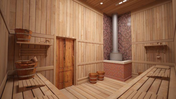 интерьер русской бани