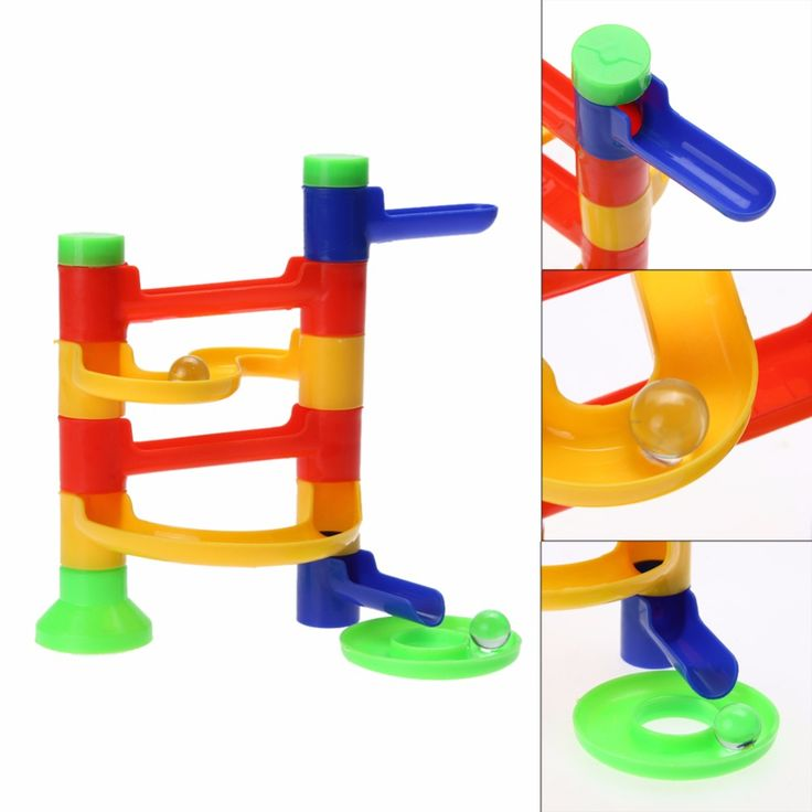 Diy bau marmor rennen labyrinth bälle track bausteine kinder pädagogisches kinder orbit ball spielzeug assemblage spielzeug