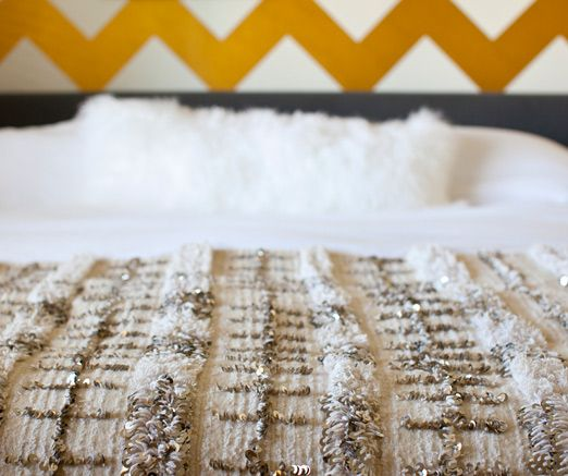 GOLD AND MOROCCAN BLANKET.  I die.  a house in the hills - interiors, style, food, and dogs