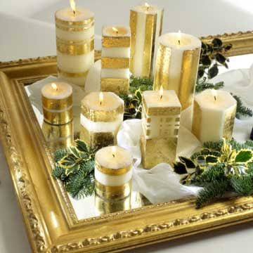 Soap Blog: Guilded Illuminations - Decorating Candles in Metallics - Part 2