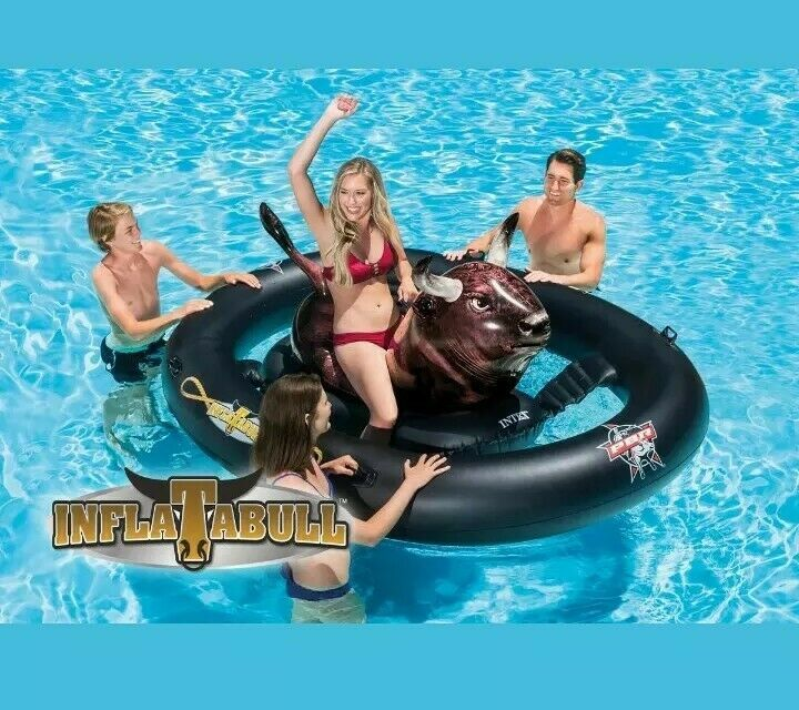 Inflatable Bull Riding Swimming Pool Float Ride On Intex Inflatabull Water Toy Ideas Of Pool Float Poolfl In 2020 Pool Toys Swimming Pool Toys Swimming Pool Floats