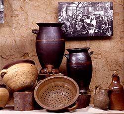 """2 """"Baaren"""" Saltglazed stoneware, Langerwehe. Töpferei Museum Langerwehe, NRW, Germany"""