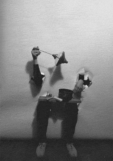 Milan Grygar (b.1926), Tactile Drawing, performance, 1969