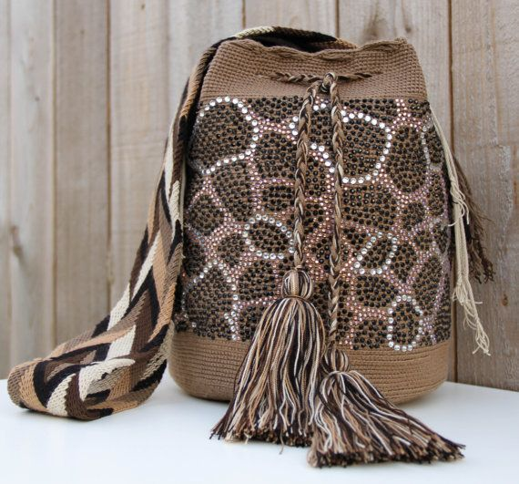 Jira Wayuu Mochila Bag with Crystals on Etsy, $235.00