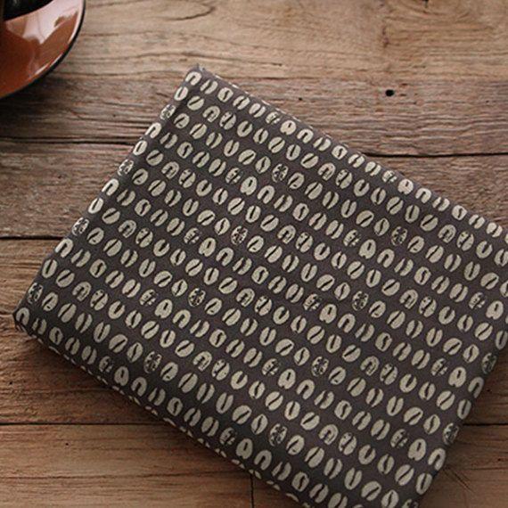 """Algodón tejido café sello patrón por las yardas 44"""" acogedor café sello patrón laceking2013"""