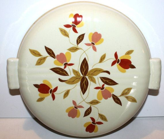 RARE 1950s Hall China Autumn Leaf LID For By Ablast2thepast, $30.00
