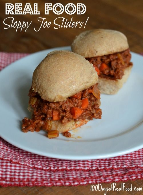 #SloppyJoes from 100 Days of #RealFood