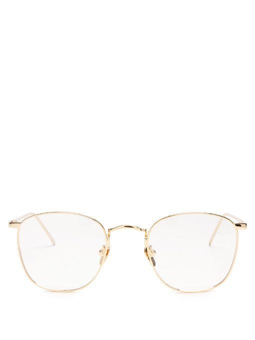 LINDA FARROW Square optical glasses. #lindafarrow #glasses