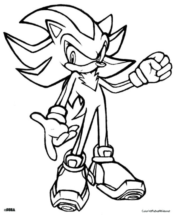 Sonic coloring pages shadow sonic coloring pages for Free printable sonic the hedgehog coloring pages