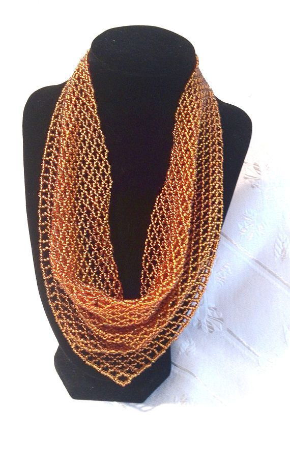 PDF master class scarf neckerchief solitaire beaded Beaded