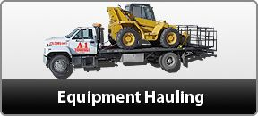 Equipment Hauling  -  We are offering best equipment hauling services any where any time.