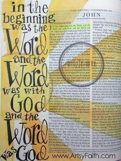Artsy Faith | John 1:1  Bible Art Journaling 101  FREE online class