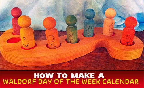 How to make a Waldorf Day of the Week Calendar woodworking education grade 1 to 3 Might work with rainbow colors too.