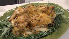 Tons of rosemary. dont forget to use the fat lef over for the onions Crispy, salty skin is the secret to Al Roker's perfect roasted chicken