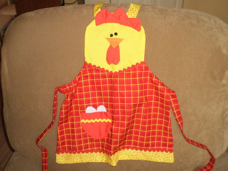 Chicken Apron by ItzSewTime on Etsy