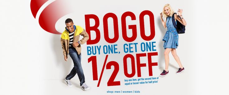 Famous Footwear Back to School Shoes Sale: Buy One Get One 1/2 OFF