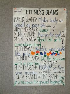 Health & Physical Education's Got Merritt: Fitness Beans!  Fun for Daily Physical Activity in Primary Classrooms...just to get the wiggles out!