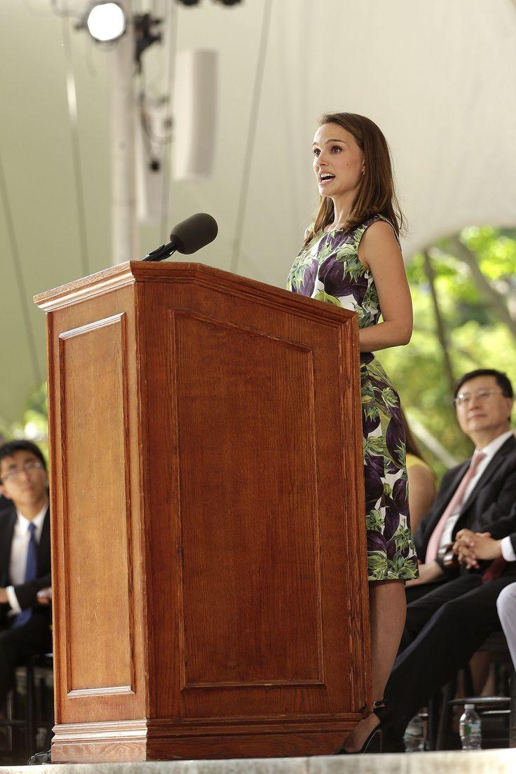 Natalie Portman Harvard Commencement Speech   Harvard ...