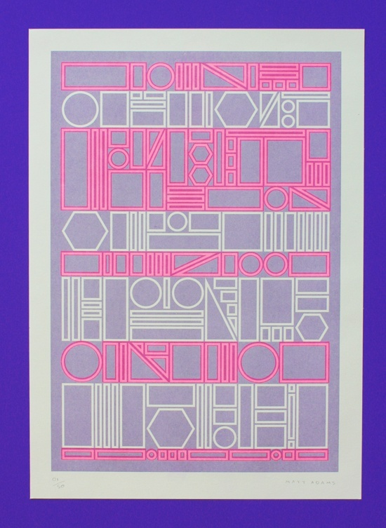 Fluorescent pink poster from Matt Adams