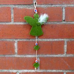 Ürünün malzemesi: Keçe Renk: Yeşil Ölçüler: 8 cm x 25 cm