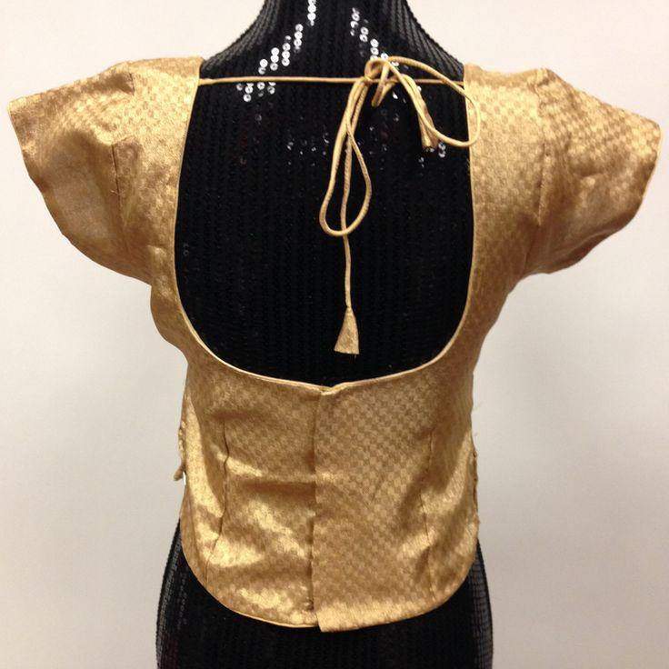Brocade Long Kurti Blouse - Golden - 2