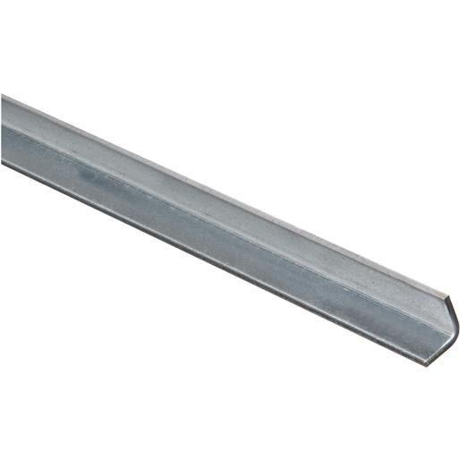National Mfg. 3/4X3' Galv Solid Angle N179895 Unit: Each, Silver steel