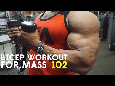 BICEP WORKOUT FOR MASS 102 - YouTube