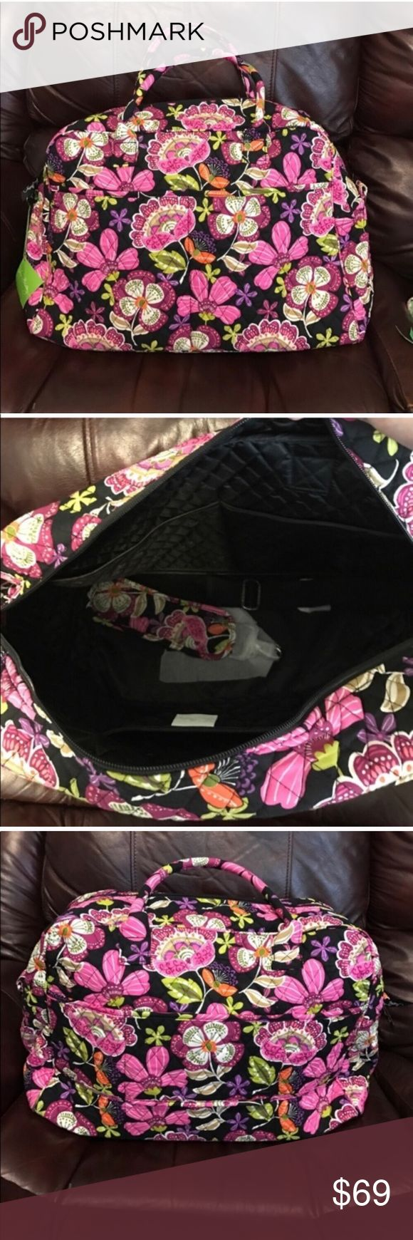 NWT Vera Bradley weekender bag pirouette pink NWT Vera Bradley weekender travel bag: dimensions 13 in high and 18 in wide Vera Bradley Bags Travel Bags