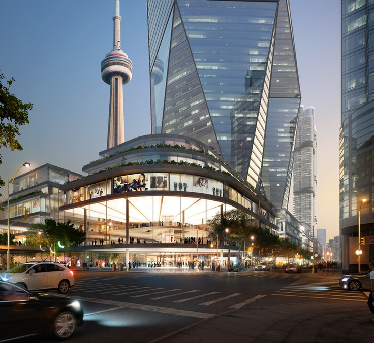 Downtown Toronto convention center + casino proposal - Oxford Place (Foster & Partners, architects)