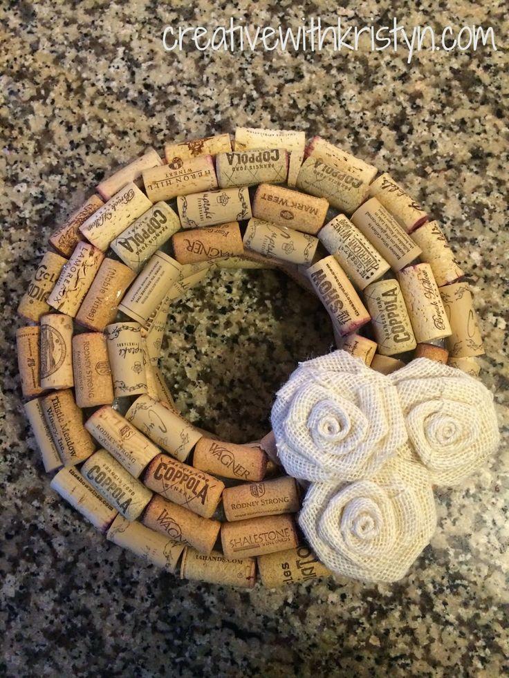 Creative with Kristyn: Wine Cork Wreath DIY