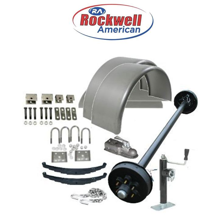 6'6″ Wide Utility Trailer Parts Kit – 5,200 lb Capacity – Model 1112 Economy (Complete Kit without Wheels, Tires & Light Kit) Rockwell American Posi-Lube Electric Brake Axl