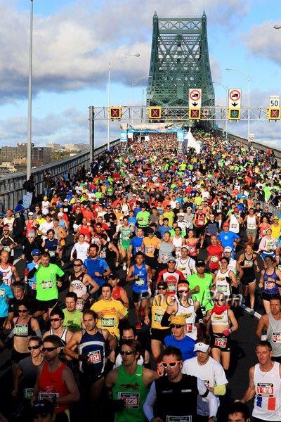 I've run this, what a great starting spot! Montreal Marathon (Marathon Oasis & ½ Marathon de Montréal, part of the Rock 'n' Roll Marathon Series)