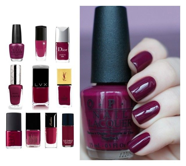 U0026quot;Plum Velvet Color - Nail Polishu0026quot; By Larycao Liked On Polyvore Featuring Beauty Christian Dior ...